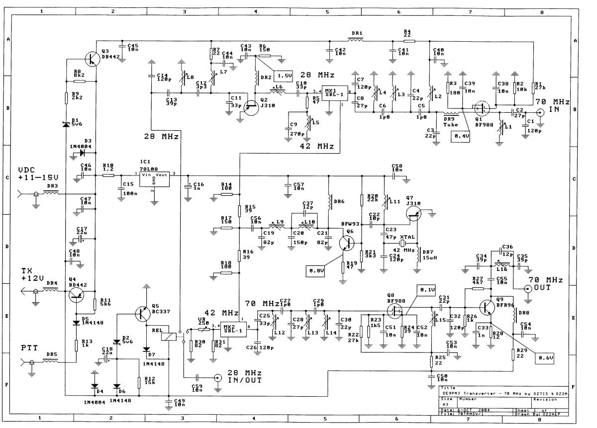 OZ2M - 70 MHz Transverter